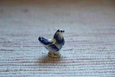 Porcelain bird Gzhel