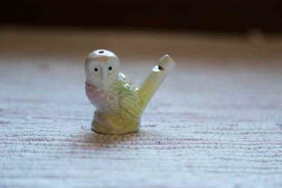 Porcelain owl whistle