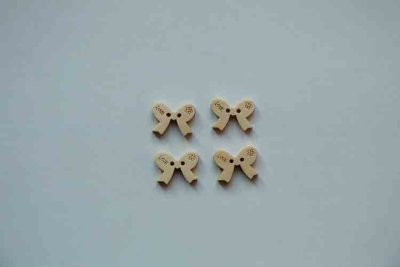 Wooden buttons bow
