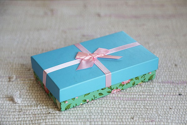 Blue and green gift box