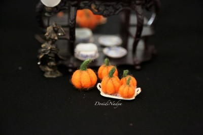 Miniature fairy house pumpkin