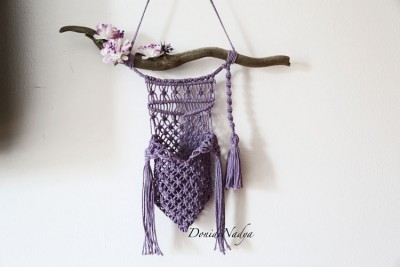 Wall pocket macrame