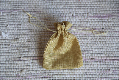 Small beige bag