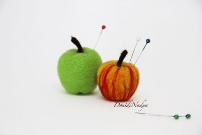 Pincushion apples