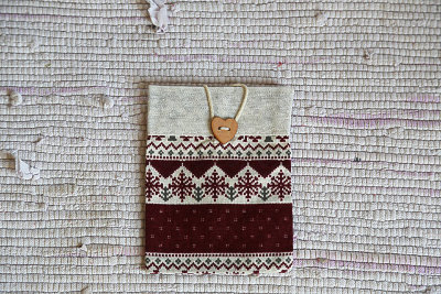 "Burgundy bag ""Snowflakes"""