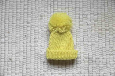 Knitted hat yellow