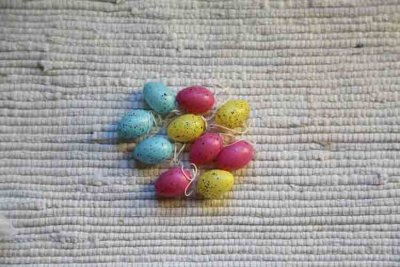 Easter tree ornament eggs