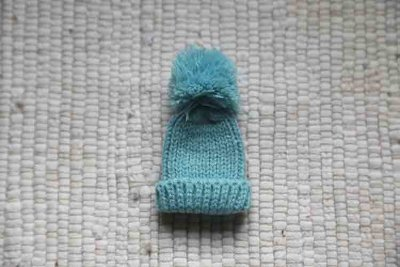 Knitted hat blue