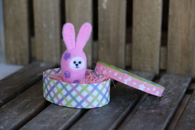 "Needle felted Easter bunny-egg ""Primula"""