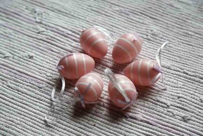 Pink hanging eggs