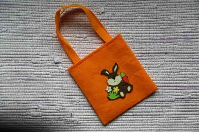 Orange Easter bag