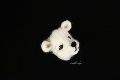 White polar bear brooch