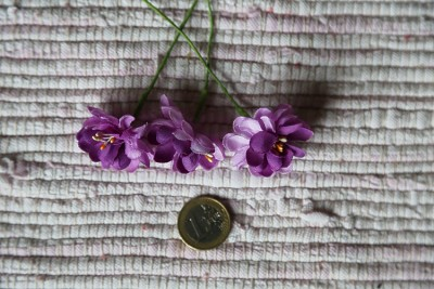 Lilac fabric flowers