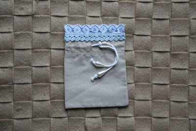 "Small gift bag ""Blue laces-2"""
