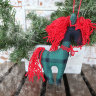 Green horse hanging decor
