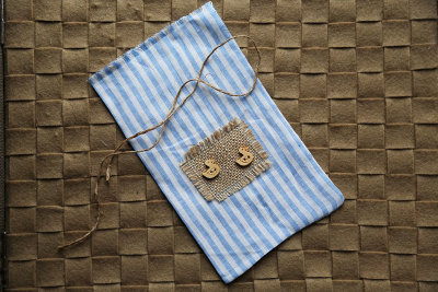 "Linen gift bag ""Ducks"""