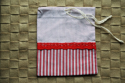 "Gift bag ""Red and white"""