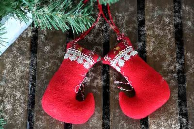 Christmas socks plush decor