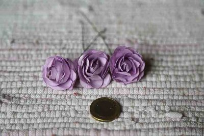 Lilac paper roses