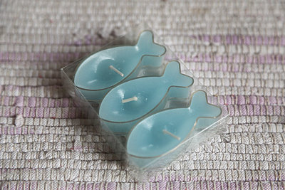 Blue fishes candles