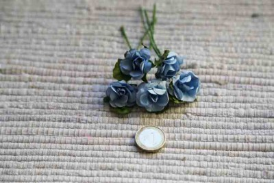 Blue paper roses